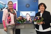 Der neue Vorstand der DBB NRW Frauenvertretung: Susanne Mosbach (stellv. Vorsitzende), Tanja Küsgens (stellv. Vorsitzende) und Diana Wedemeier (Vorsitzende). © DBB NRW